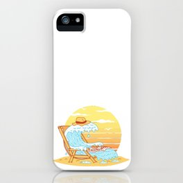 WAVE ON THE BEACH iPhone Case
