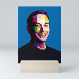 Elon Musk Mini Art Print