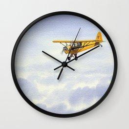 J-3 Piper Cub Aircraft Wall Clock