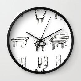 wonky objects Wall Clock