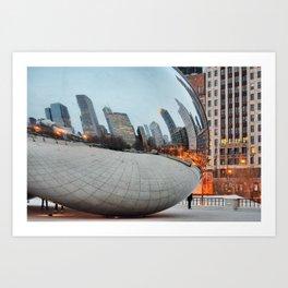 Chicago Bean - Big City Lights Art Print