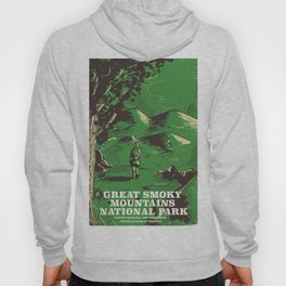 Great Smoky Mountains National Park vintage travel poster Hoody