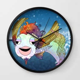 Flying Bahamut Wall Clock