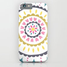 Suzani inspired floral blue 1 Slim Case iPhone 6s