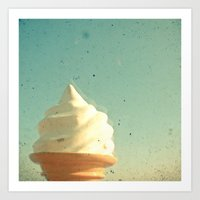 ice cream Art Prints featuring Ice Cream by Cassia Beck