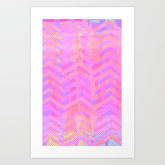 Neon Chevron Art Print
