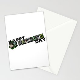 Happy St. Patrick's Day Big Letter Stationery Cards