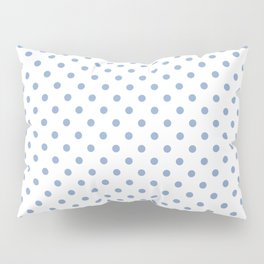 Polka dots Blue dots over white Pillow Sham