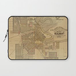 Vintage Map of Beaumont TX (1902) Laptop Sleeve