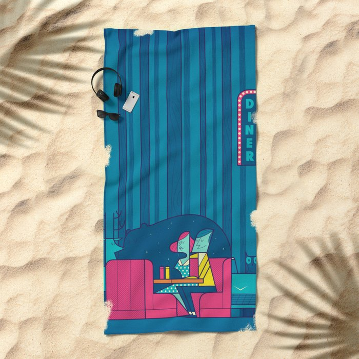 Diner Beach Towel