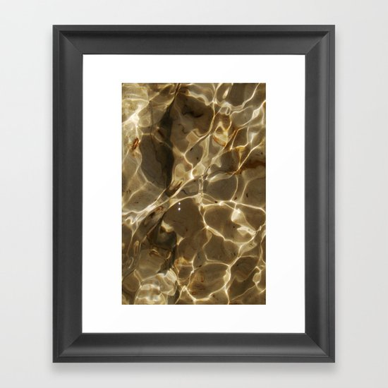 Water texture for iPhone Framed Art Print
