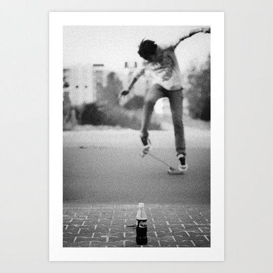 Coke & Skate Art Print