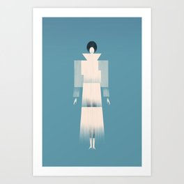 Project Fabrica Art Prints | The New Museum / SANAA | Architectural Fashion Illustration Art Print