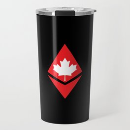Canada flag ethereum Travel Mug
