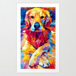 Golden Retriever 6 Art Print