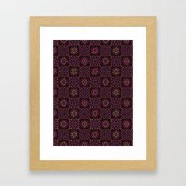 Quilt Patchwork Tile Pattern Framed Art Print
