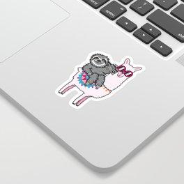 Sloth Music Llama Sticker