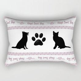 Adopt. Dont. Shop. Christmas Sweater Rectangular Pillow