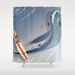 VLD: Lance's View Shower Curtain