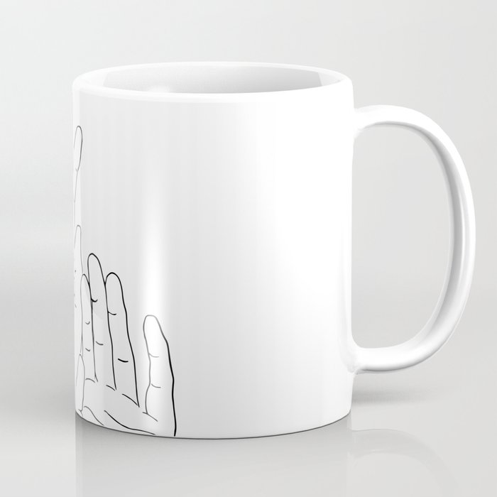 Hands minimal line drawing Coffee Mug
