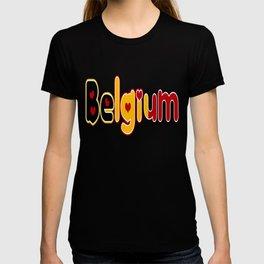 Belgium Font #2 with Belgian Flag T-shirt