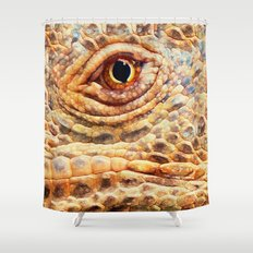 IGUANA ABSTRACT Shower Curtain
