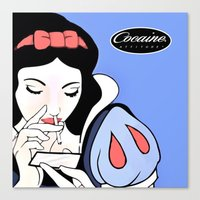 cocaine Canvas Prints featuring Snow White: Cocaine Attitude by Trash Apparel