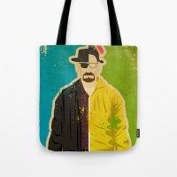 heisenberg Tote Bags featuring Heisenberg by Danny Haas