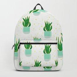 Potted Snake Plant Pattern Backpack