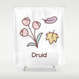 Cute Dungeons and Dragons Druid class Shower Curtain