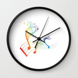 color funny notes Wall Clock