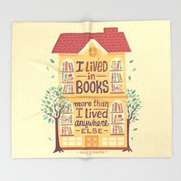 Lived in books Throw Blanket