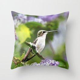 Hummingbird XVIII Throw Pillow