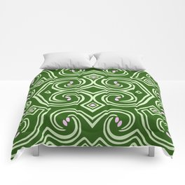 Svortices (Green) Comforters