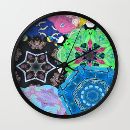 Colorful mandalas - Cold play Wall Clock