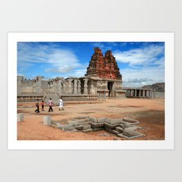 Vittala temple, Hampi Art Print