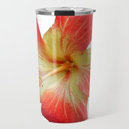 Gorgeous Red And Gold Hawaiian Hibiscus Flower No Text Travel Mug