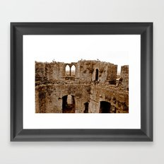 Castle Walls Framed Art Print