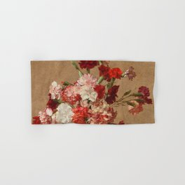 Henri Fantin Latour - Carnations Without Vase Hand & Bath Towel