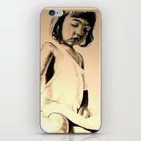 jessica lange iPhone & iPod Skins featuring JESSICA by ARTito