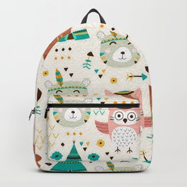 Boho Forest , Woodland Critters Backpack