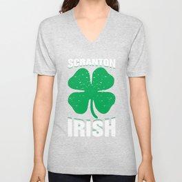 Scranton Irish Parade St Patricks Day Shamrock 2018 Unisex V-Neck