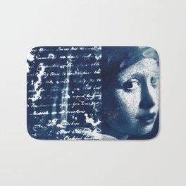 Fragments of the Past (4), art print, collage, blue print, cyanotype print, wall art, wall decor Bath Mat