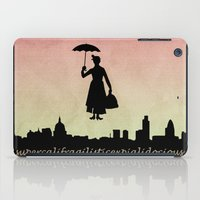 mary poppins iPad Cases featuring mary poppins by cubik rubik