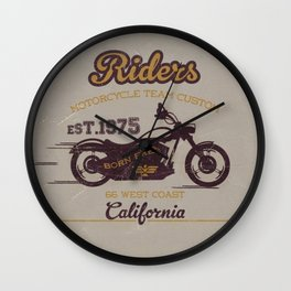 MotoBiKe RiDe 1 Wall Clock