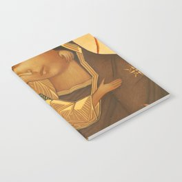 Orthodox Icon of Virgin Mary and Baby Jesus Notebook