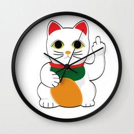 lucky catt'o fucko Wall Clock