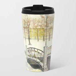 Locks on Little Lovers Bridge Travel Mug