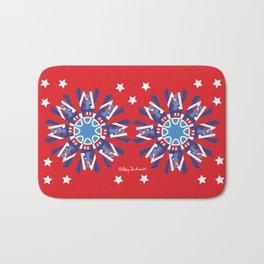 United Mandala x 2-Red White Blue Bath Mat