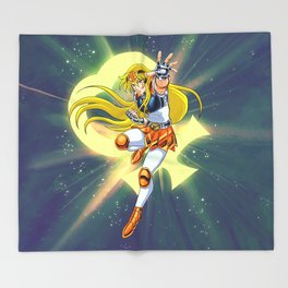 Caballero de Venus Throw Blanket